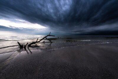 Cuadro Nubes oscuras sobre el océano