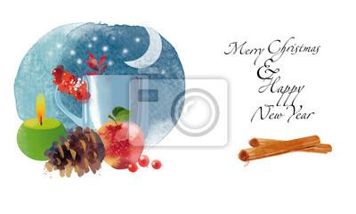 Cuadro nuevo año feliz feliz navidad deco