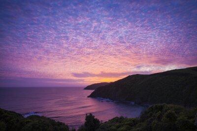 Cuadro Nugget Point Catlins en Neuseeland am Abend