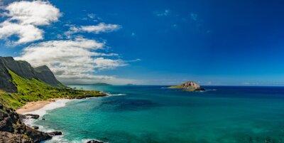 Cuadro Oahu costa este vista paisaje