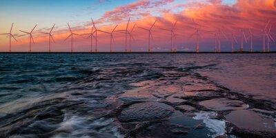 offshore wind farm, 3d illustration