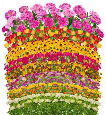 Cuadro Olas florales aislados fantástica cama
