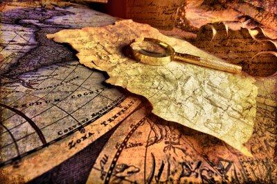 Cuadro Old Fashioned objetos en el mapa de cosecha