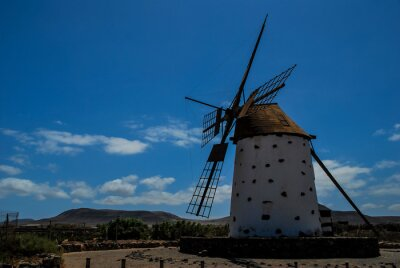 old windmill in spain, digital photo picture as a background