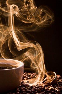 Cuadro Olor del buen cofee de una taza