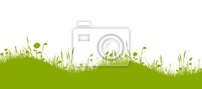 Ondulado verde pradera de flores