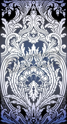 Cuadro one patron of seamless pattern of Luis XIV bedroom