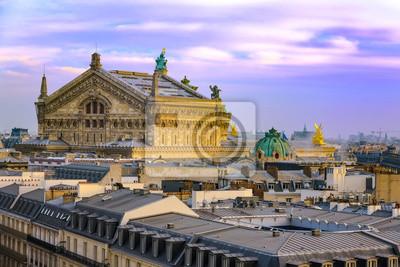 Ópera Garnier sobre el techo de París