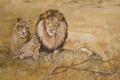 Cuadro Orgullo de los leones en vacaciones
