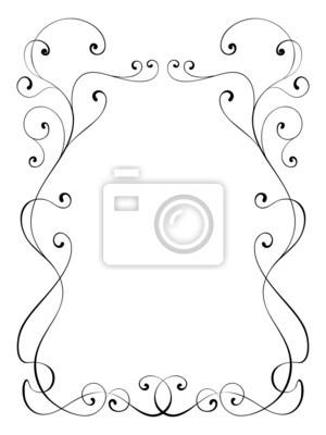 Ornamental de la caligrafía marco decorativo pinturas para la pared ...