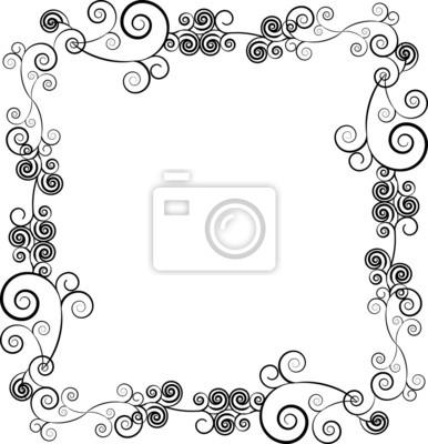 Ornamentales marco decorativo para el texto con remolinos pinturas ...