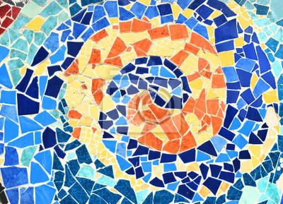 Ornamento Decorativo De La Pared Del Mosaico De La Baldosa