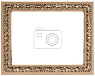 Oro rectangular tallada marco de un espejo o un cuadro pinturas para ...