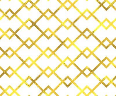 Cuadro Oro vintage hoja geométrica sin patrón de fondo