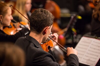 Cuadro Orquesta Sinfónica realizar.