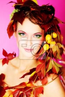 otoño de la muchacha