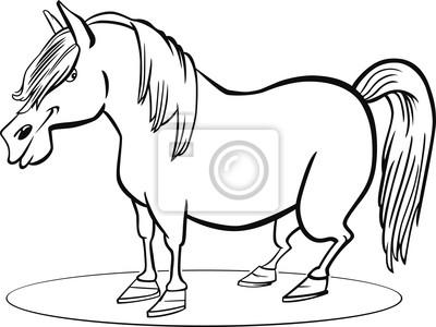 Página para colorear caballo pony de dibujos animados pinturas para ...