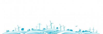 Paisaje de Energía Eólica
