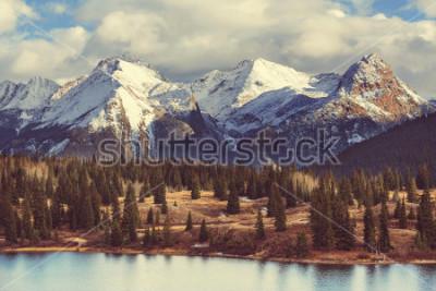 Cuadro Paisaje de montaña en Colorado Rocky Mountains, Colorado, Estados Unidos.