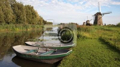 Paisaje del molino en Holanda