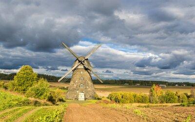 Paisaje escénico en la región de Vidzeme de Letonia, Europa