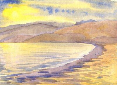 Cuadro Paisaje. Pintura de acuarela