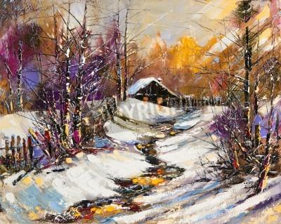 Cuadro Paisaje rural del invierno