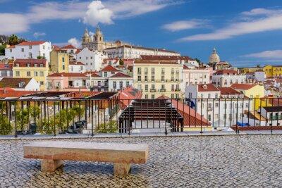Cuadro Paisaje urbano de Lisboa - arquitectura tradicional, distrito de Alfama, Lisboa, Portugal.