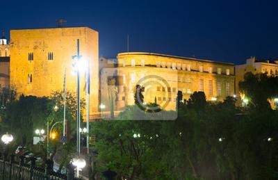 Palacio de Pretori Roma en la noche en Tarragona