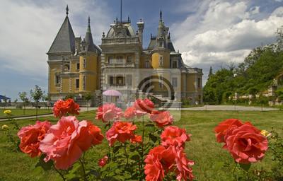 Cuadro Palacio entre las flores