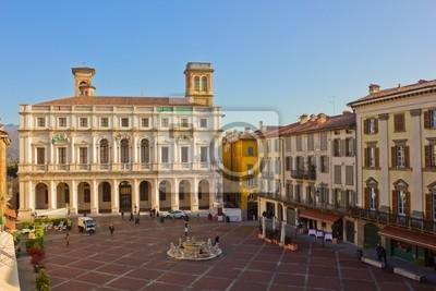 Palazzo del Podesta en el casco antiguo, de Bérgamo, Italia