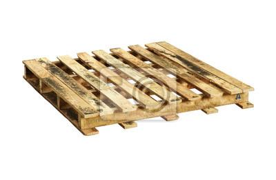 Cuadro Paleta de madera (con trazado de recorte) aislado en fondo blanco 8547e1741755