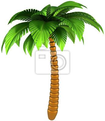 Palmera naturaleza tropical estilizado diseño elemento de procesamiento 3D