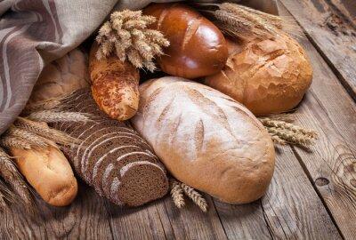 Cuadro Pan y oídos en una mesa de edad
