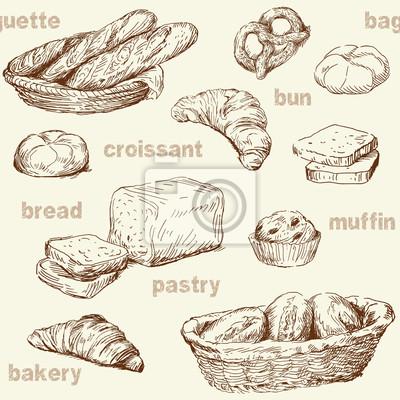 panadería patrón transparente