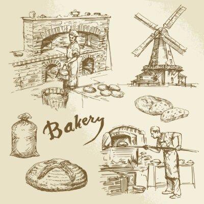 Cuadro panadero, panadería, el pan