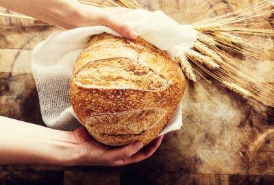 Cuadro Panadero, tenencia, barra, pan, rústico, backkound