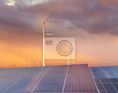 paneles fotovoltaicos y turbinas eólicas: el concepto de fuentes de energía renovables