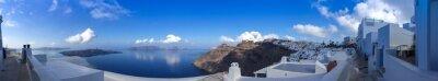 Cuadro Panorama a Fira en Santorin, las Cícladas en Grecia