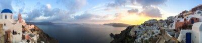 Cuadro Panorama a Oia en Santorin, las Cícladas en Grecia
