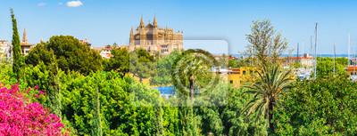 Panorama Aussicht Kathedrale La Seu Mallorca España