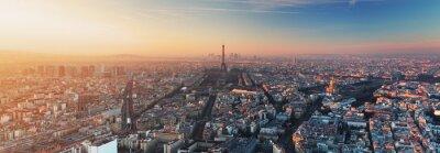 Cuadro Panorama de París al atardecer