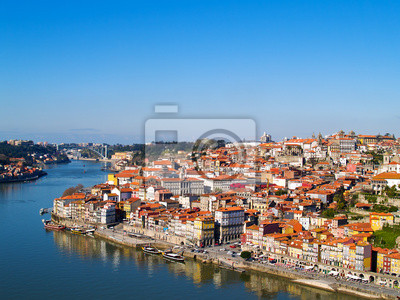 panorama de Porto y el río Duero, Portugal
