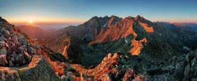 Cuadro Panorama del otoño paisaje de montaña