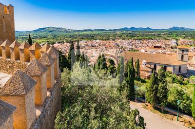 Panorama Mallorca Arta con el Festungsmauer de Sant Salvador