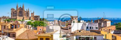Panorama Palma de Mallorca ciudad con vista de la Catedral La Seu