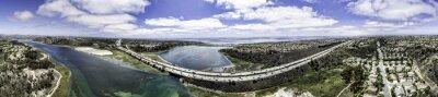 Cuadro Panorámica aérea de Batisquitos Laguna en Carlsbad, California, EE.UU..