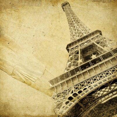 papel de la vendimia con la torre Eiffel