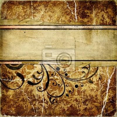 papel golde decorativa de la vendimia con el lugar para el texto