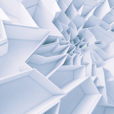 Cuadro Papel pintado geométrico del polígono del extracto del color
